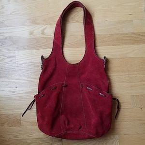 Lucky Brand suede hobo bag
